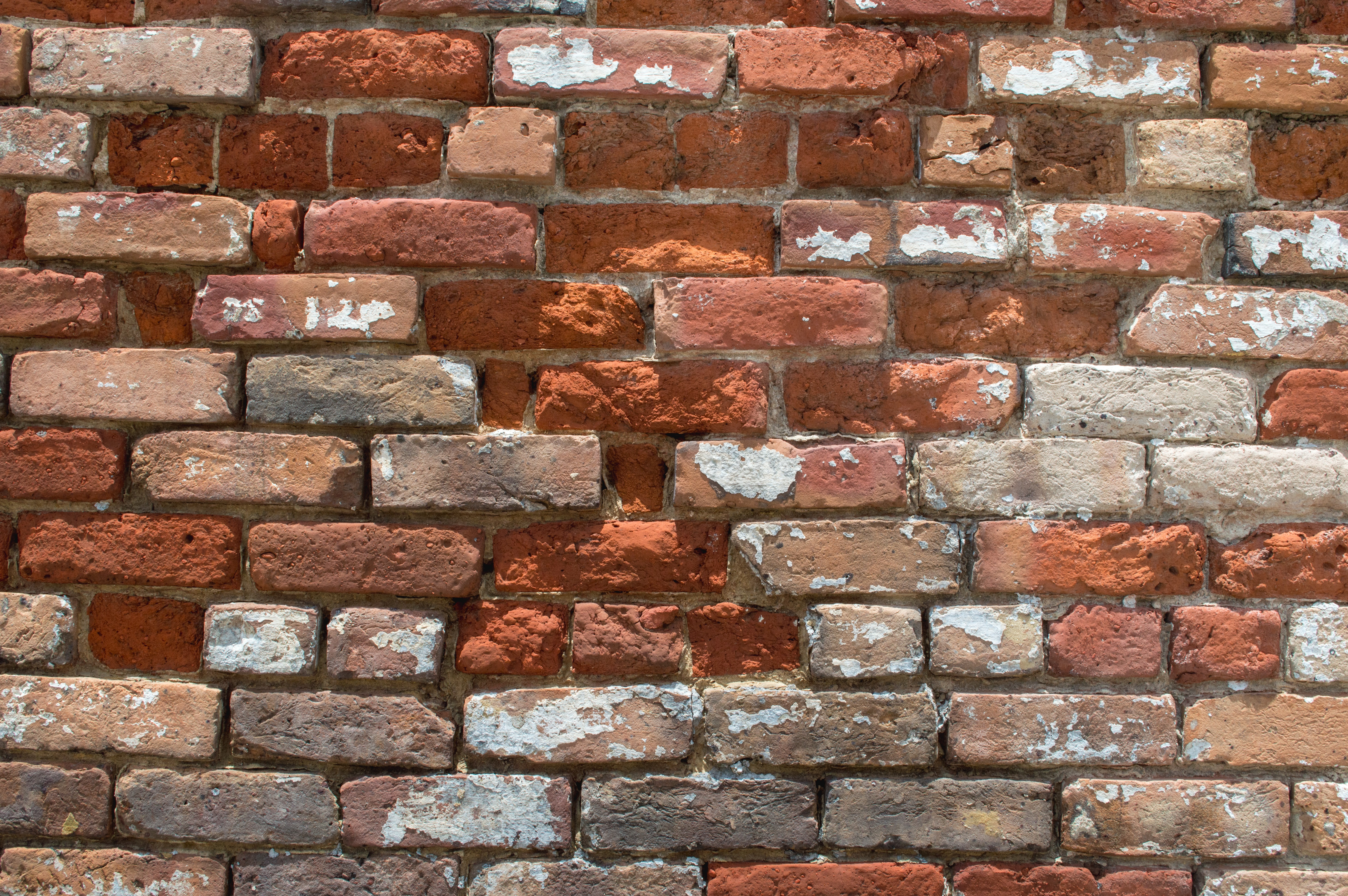 closeup photo of brown and orange brick wall