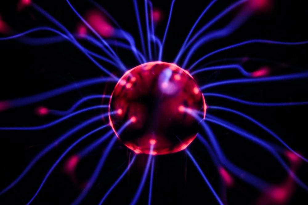 plasma ball digital wallpaper