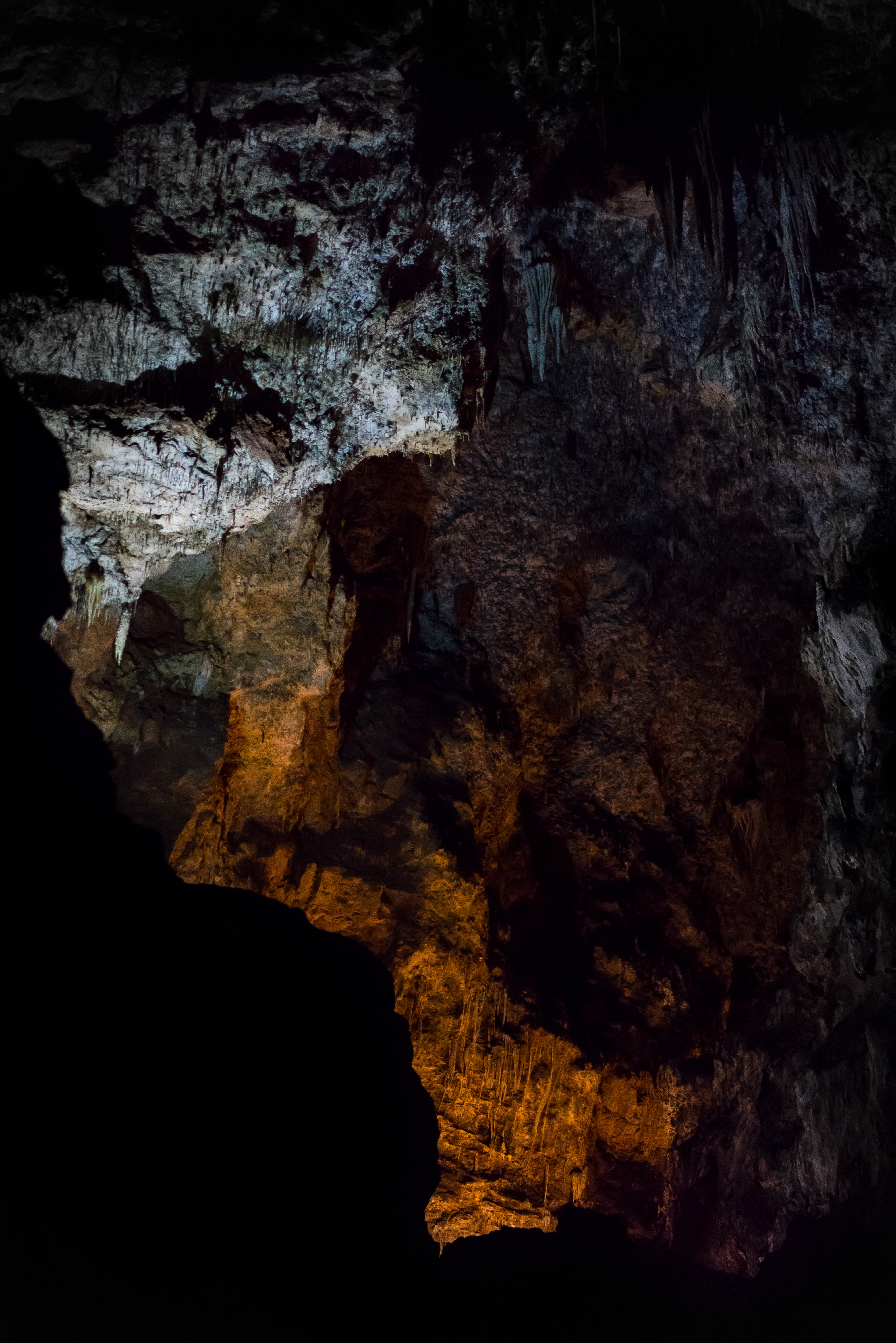 stalactites at cave