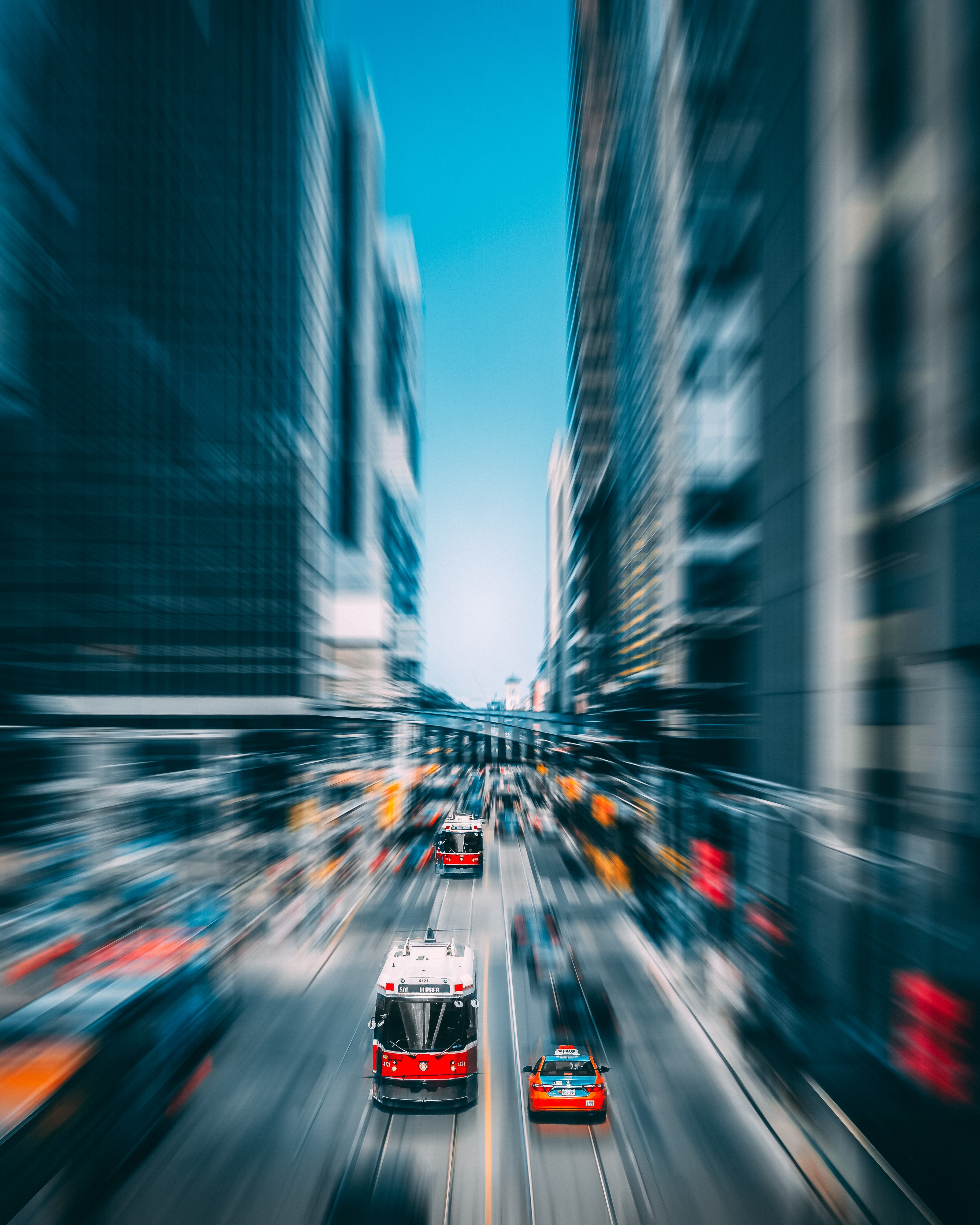 time-lapse photography of vehicles in busy road