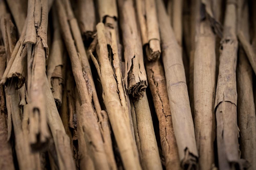brown wooden sticks