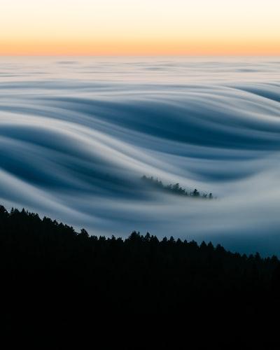 Sea of fog in California
