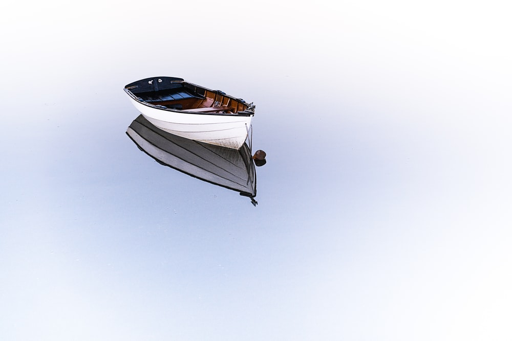 white boat on body of water