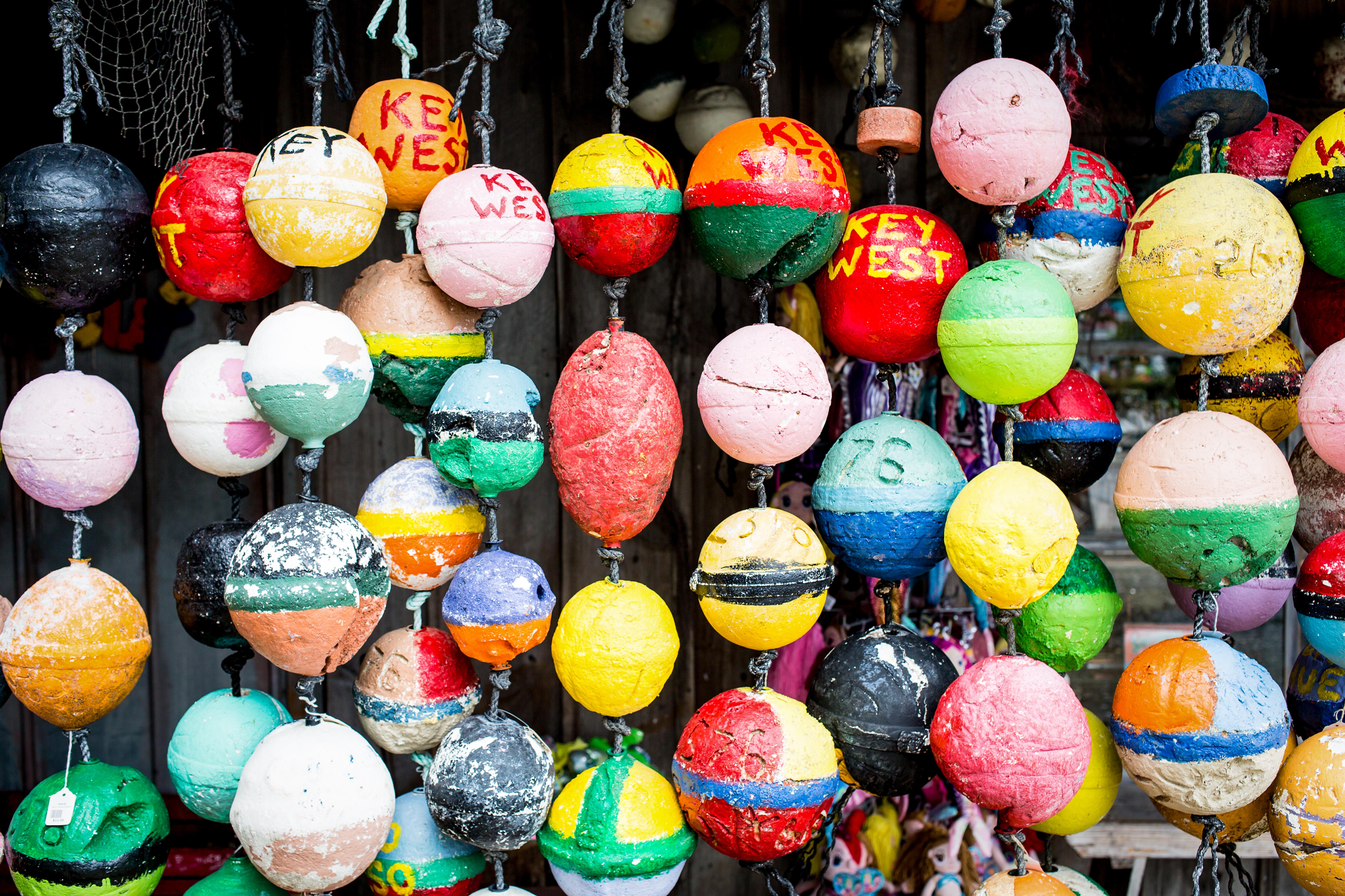 assorted hanging bath bombs