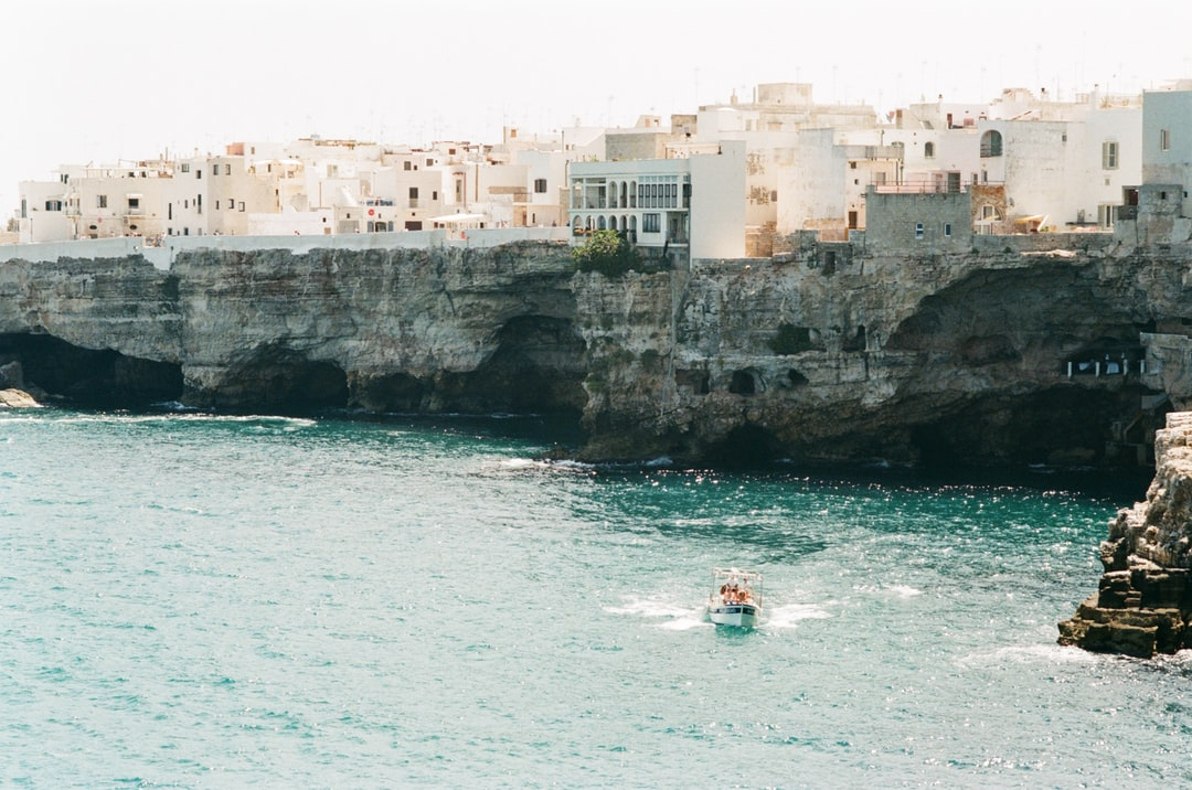 Get on the bus in Polignano A Mare