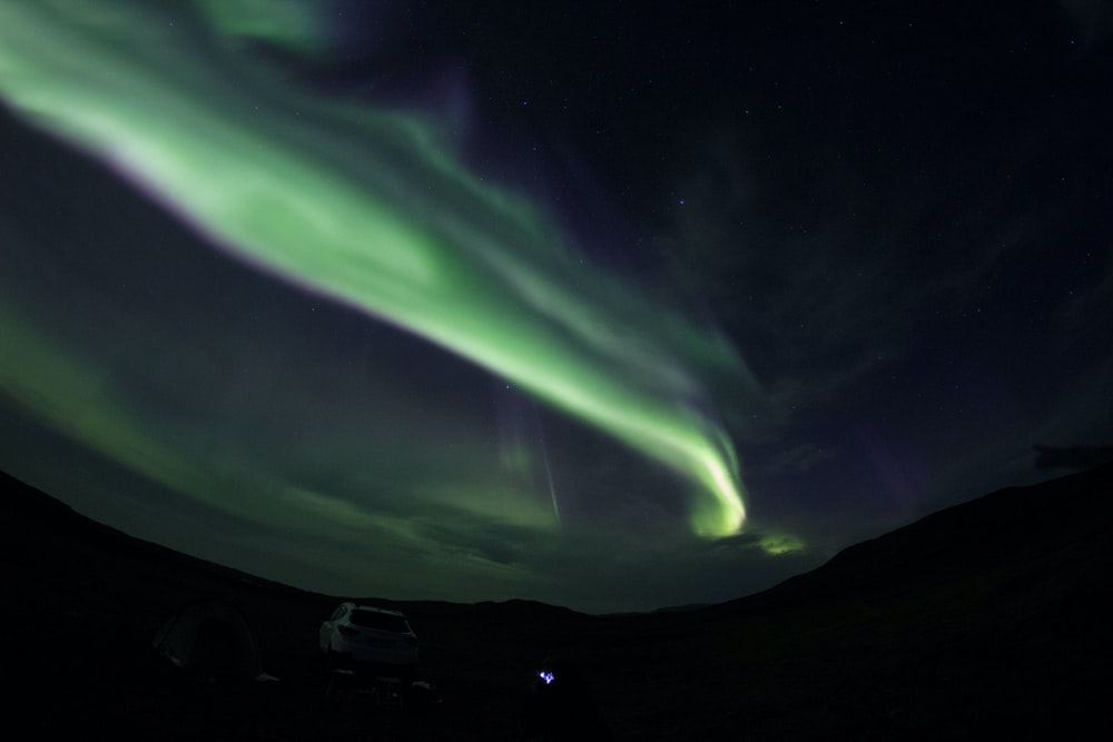 time lapse photography of aurora