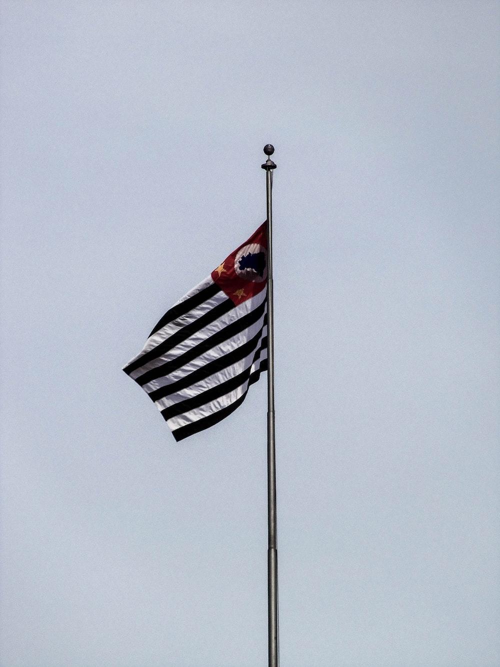 black and white striped flag