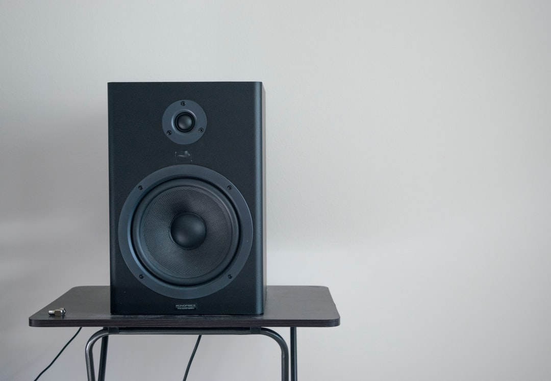As the sun was setting in the distant horizon it created the ideal setup to snap a photo of my roommate's studio monitor.