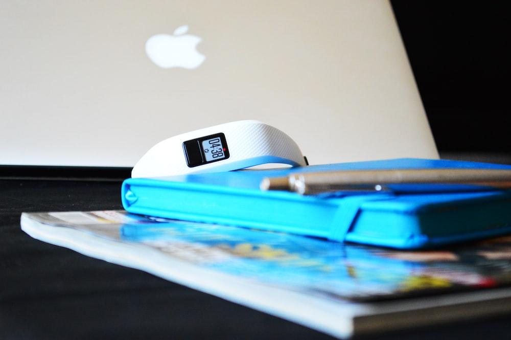 white digital watch