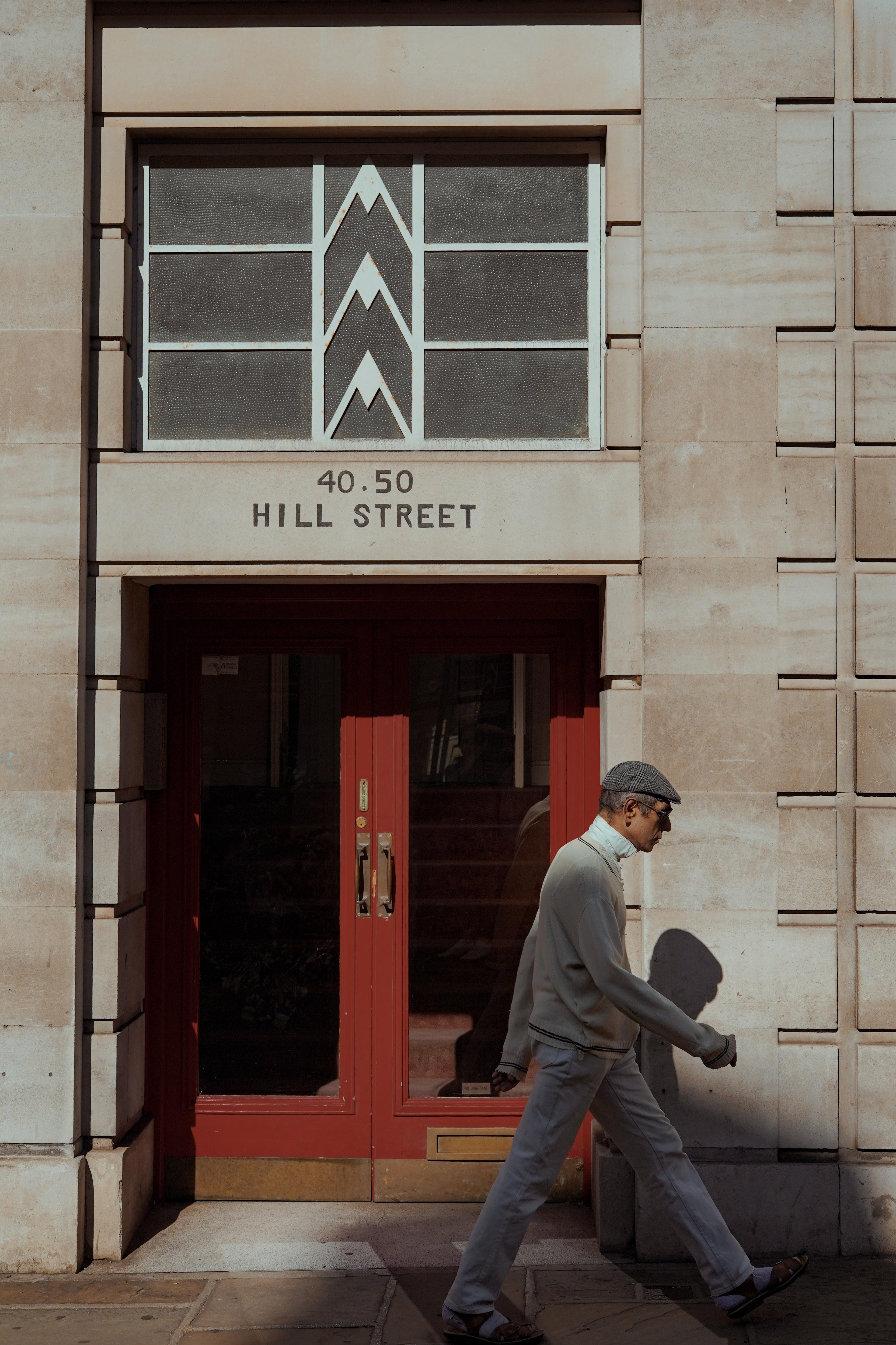 man pass through 40.50 Hill Street