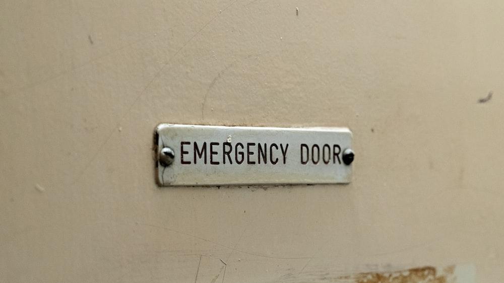 Emergency Door signage