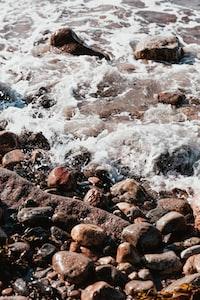 sea waves in rocks