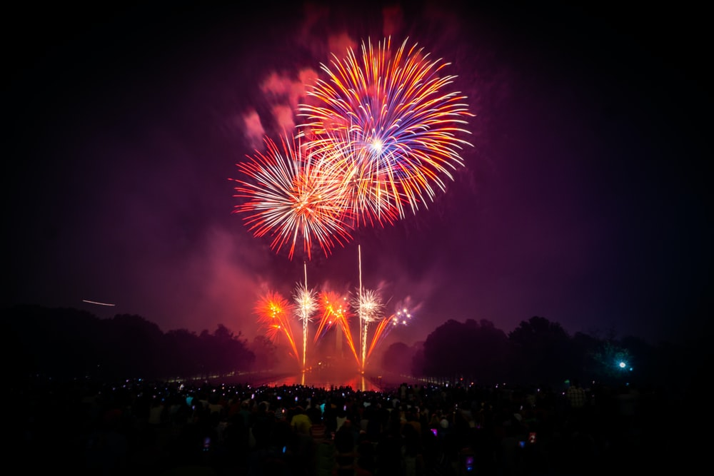 photo of firework display