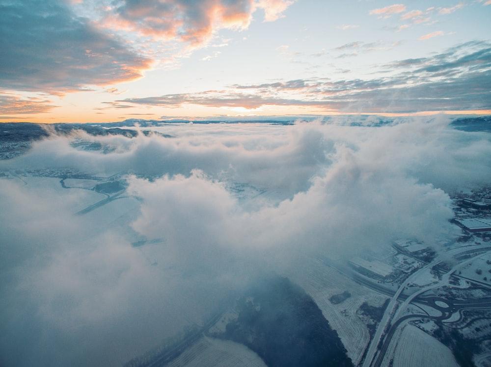 landscape photo of clouds under blue sky