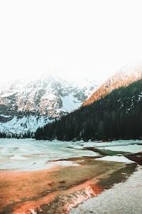 landmark photography of mountains