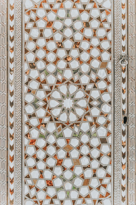 white and brown door
