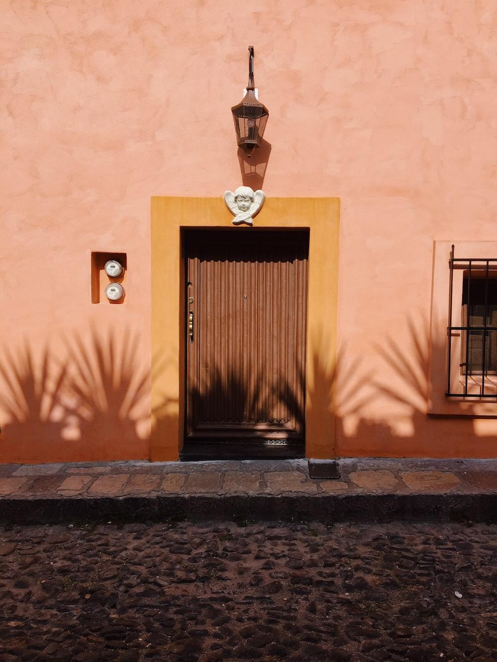 photo of black door