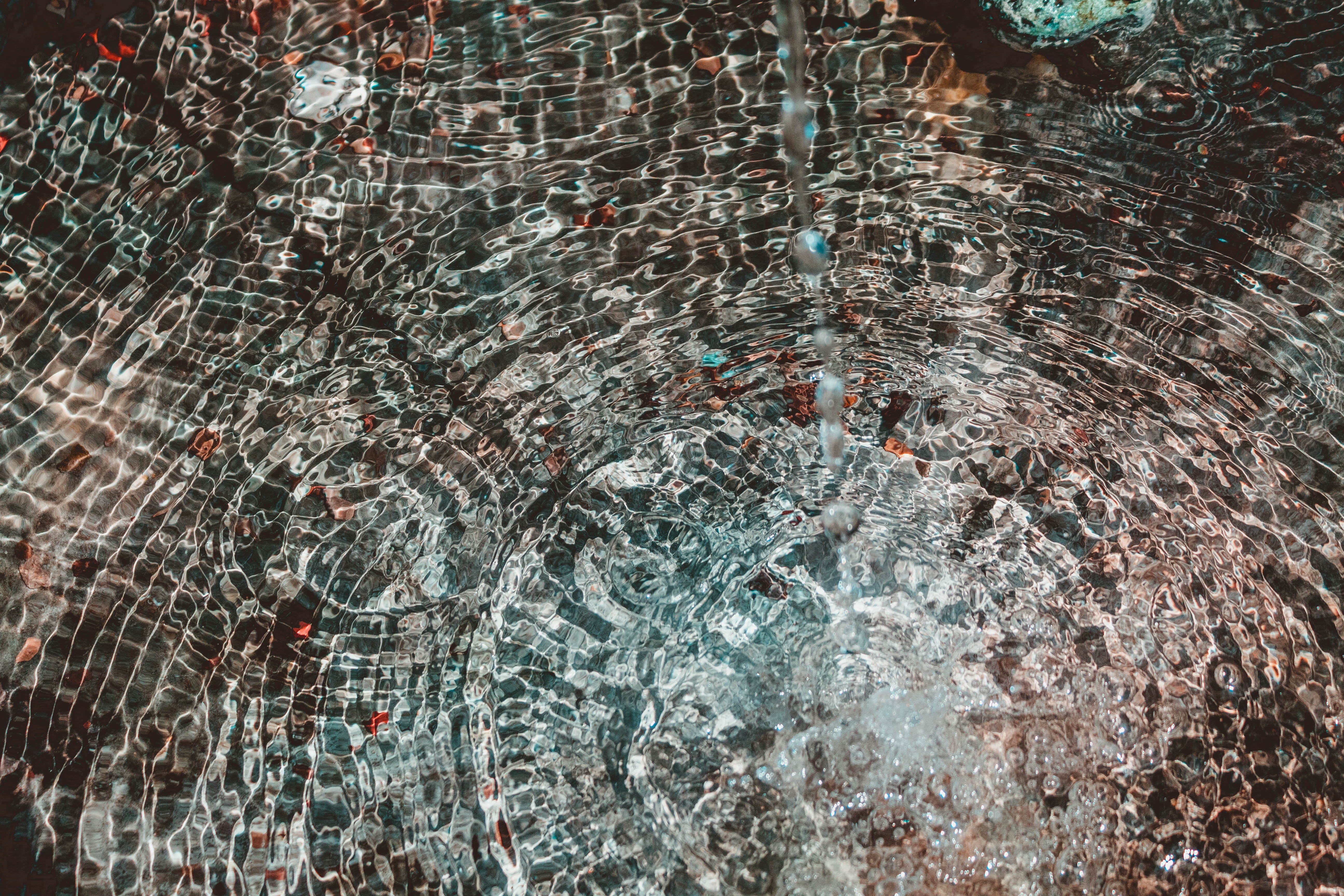 brown and gray mosaic art