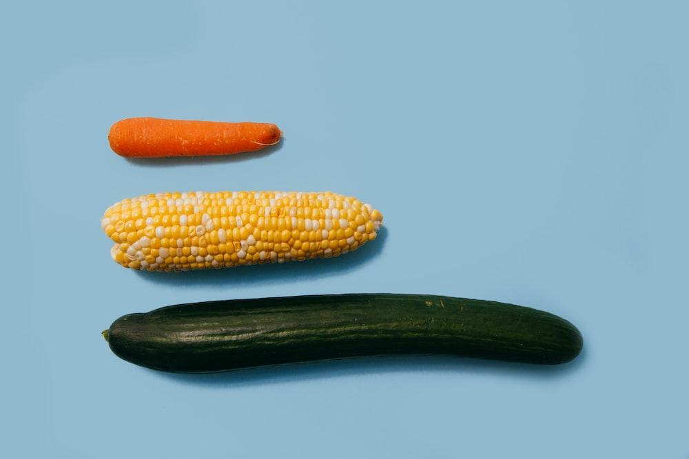 three assorted vegetables