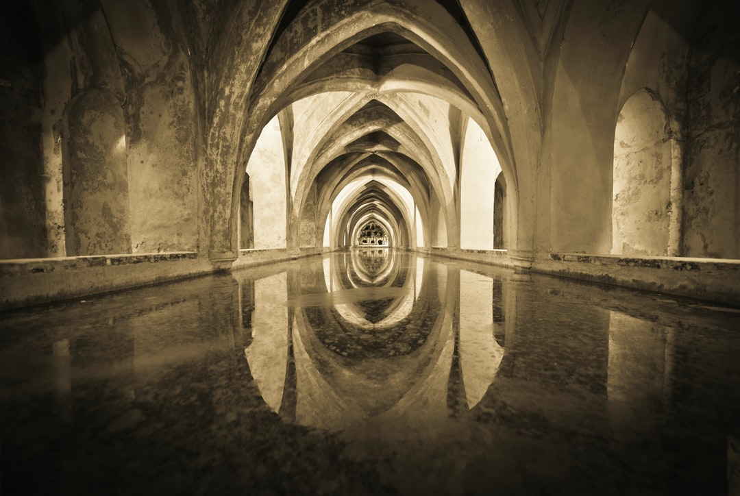 Under the Alcázar of Seville, originally a Muslim fort, is a unique tank. Known as the baths of Maria de Padilla (wife of Pedro the Cruel), this space designed to hold water under the cruise playground.