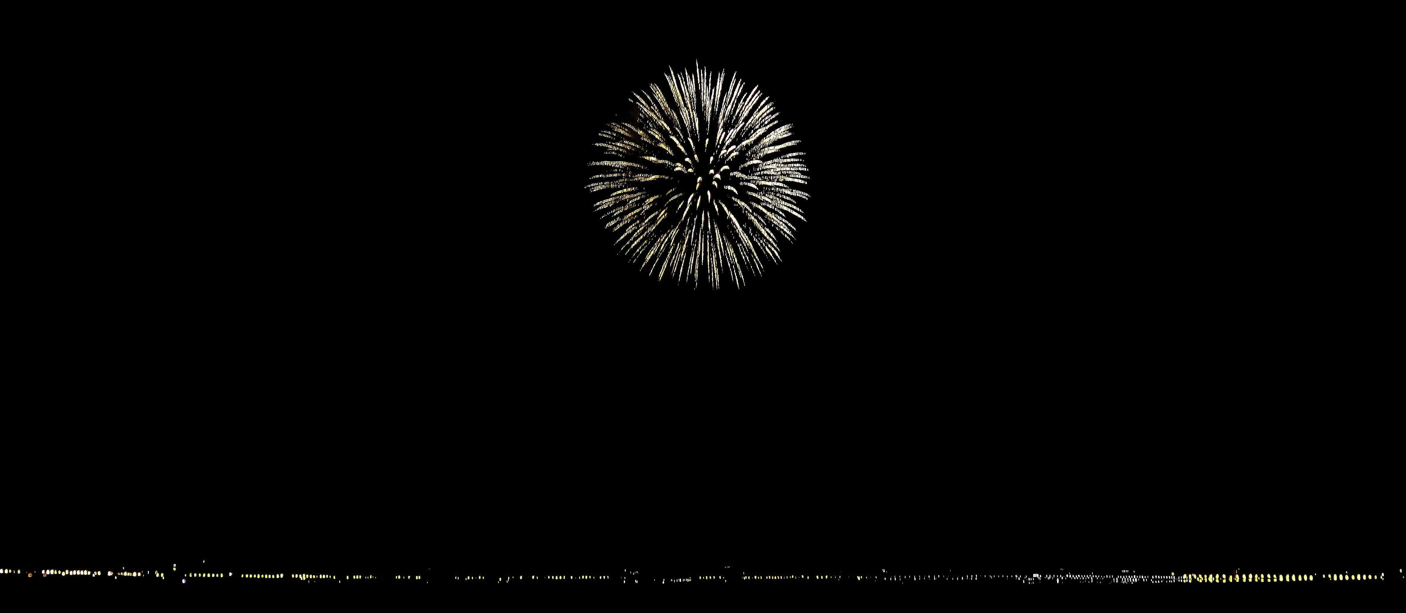 white fireworks display