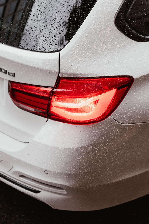 turned-on BMW tailights