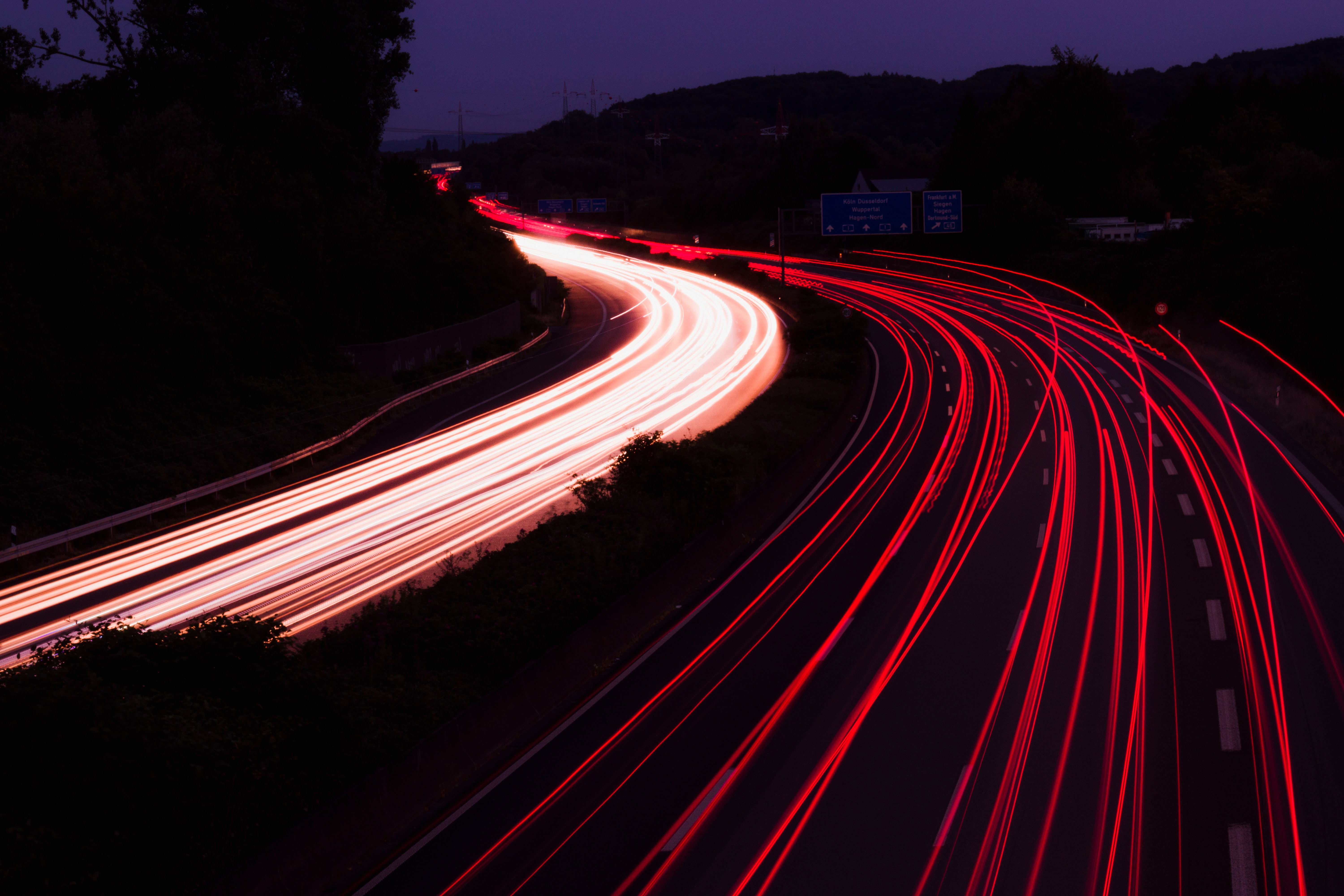 time-lapse photo of highway