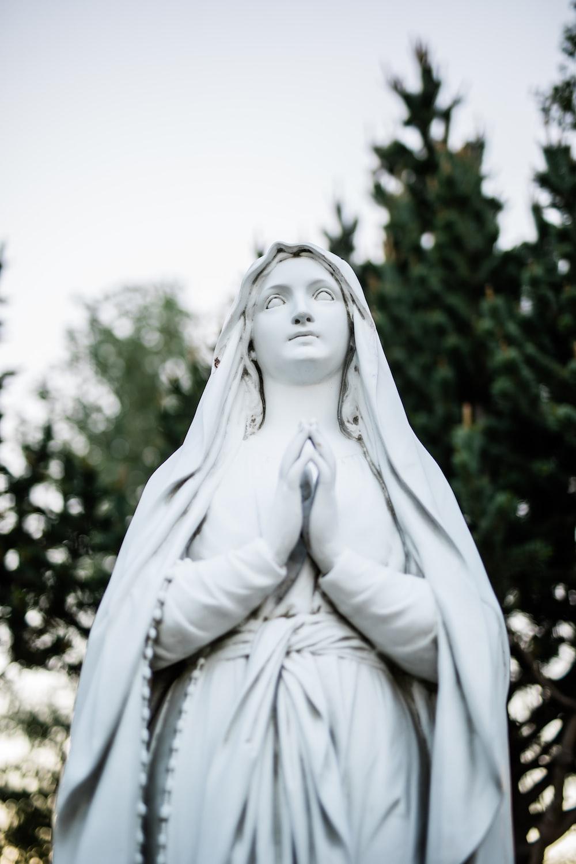 Virgin Mary ceramic statue