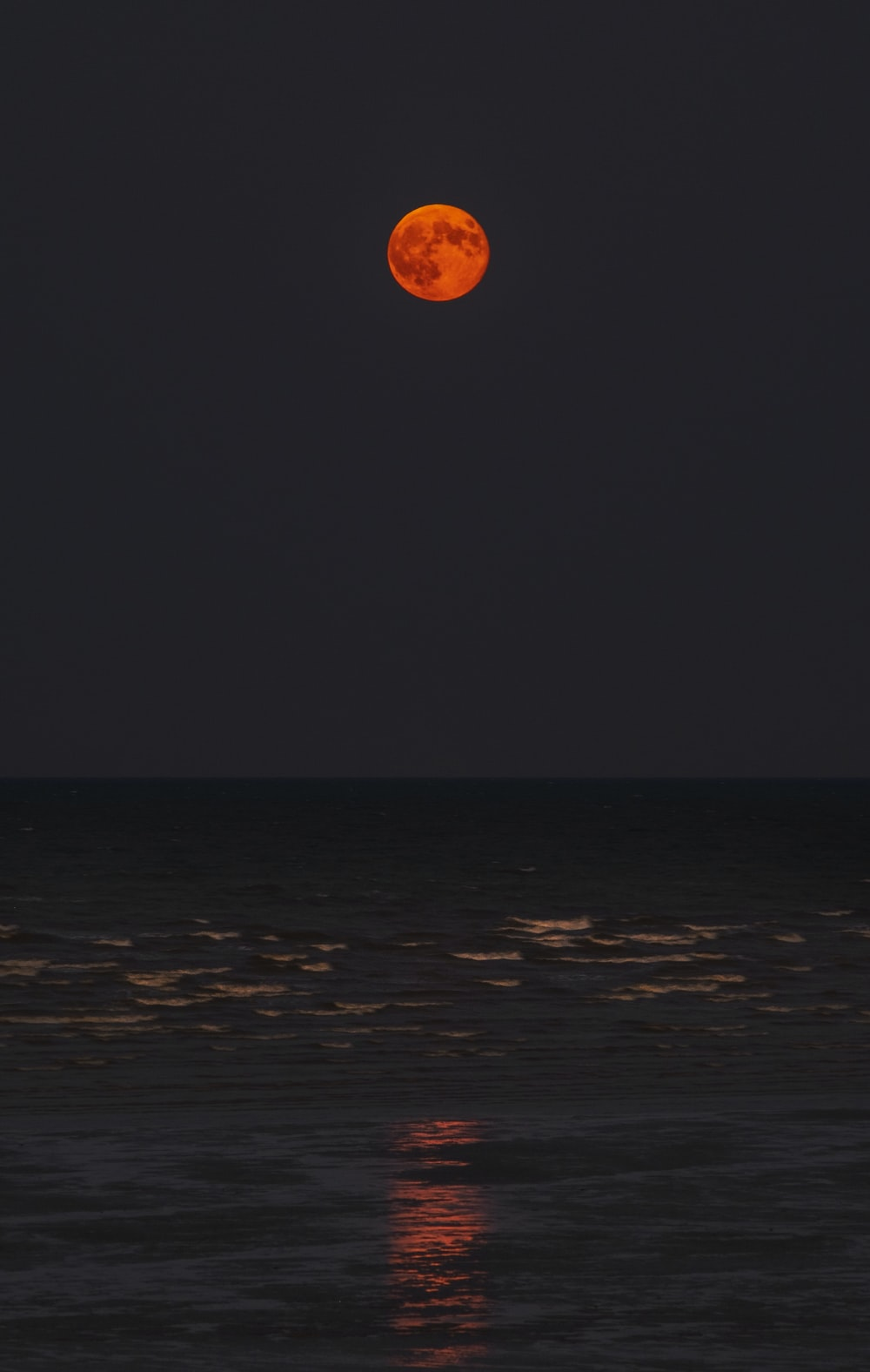 body of water during fullmoon