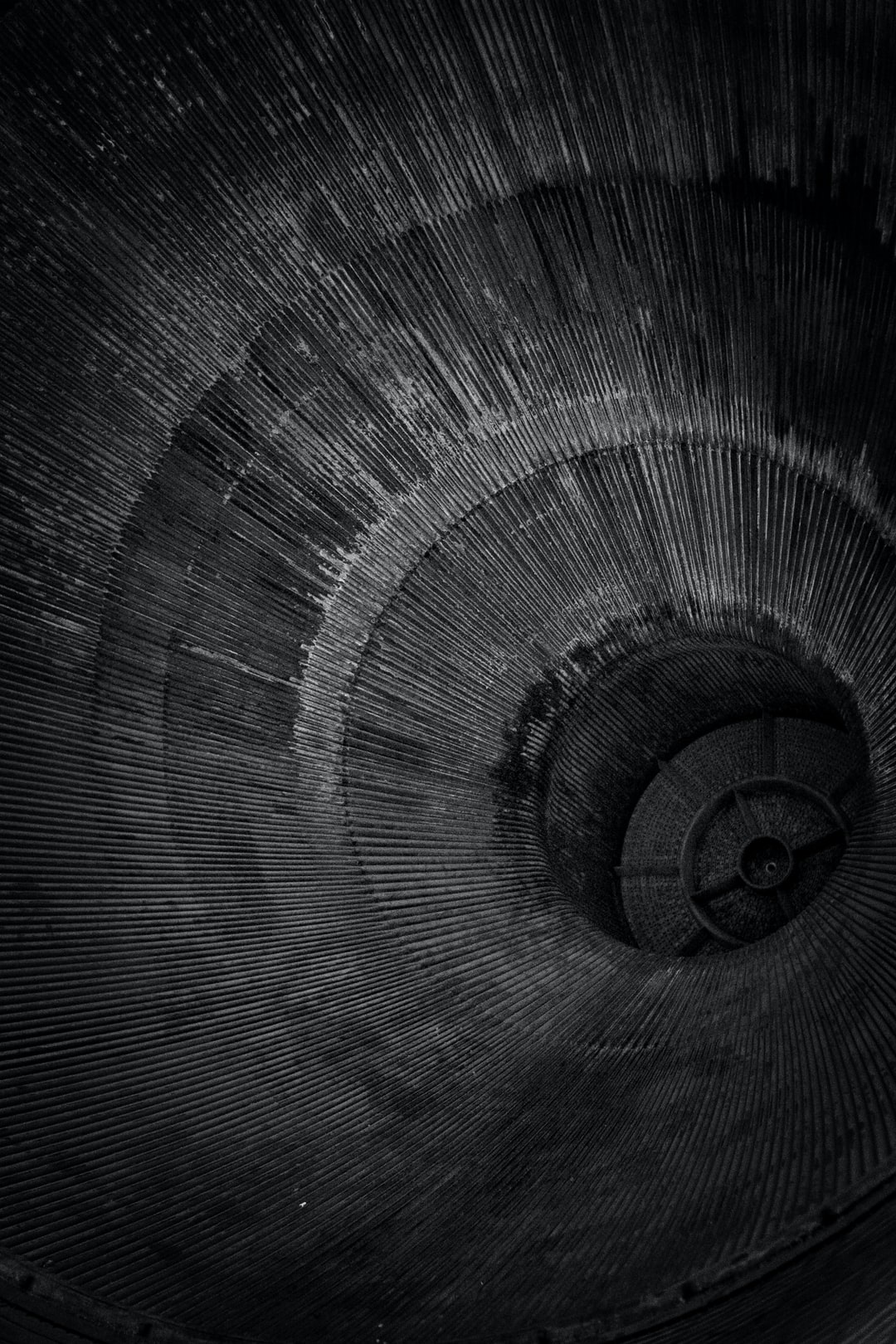 On a trip to Houston, TX, we cannot miss the NASA space center! This was taken in the rocket park exhibit that had the real Saturn V lunar apollo rocket on display, and this was a picture of one of the huge exhaust nozzles of the rocket's engines - the most powerful in history.