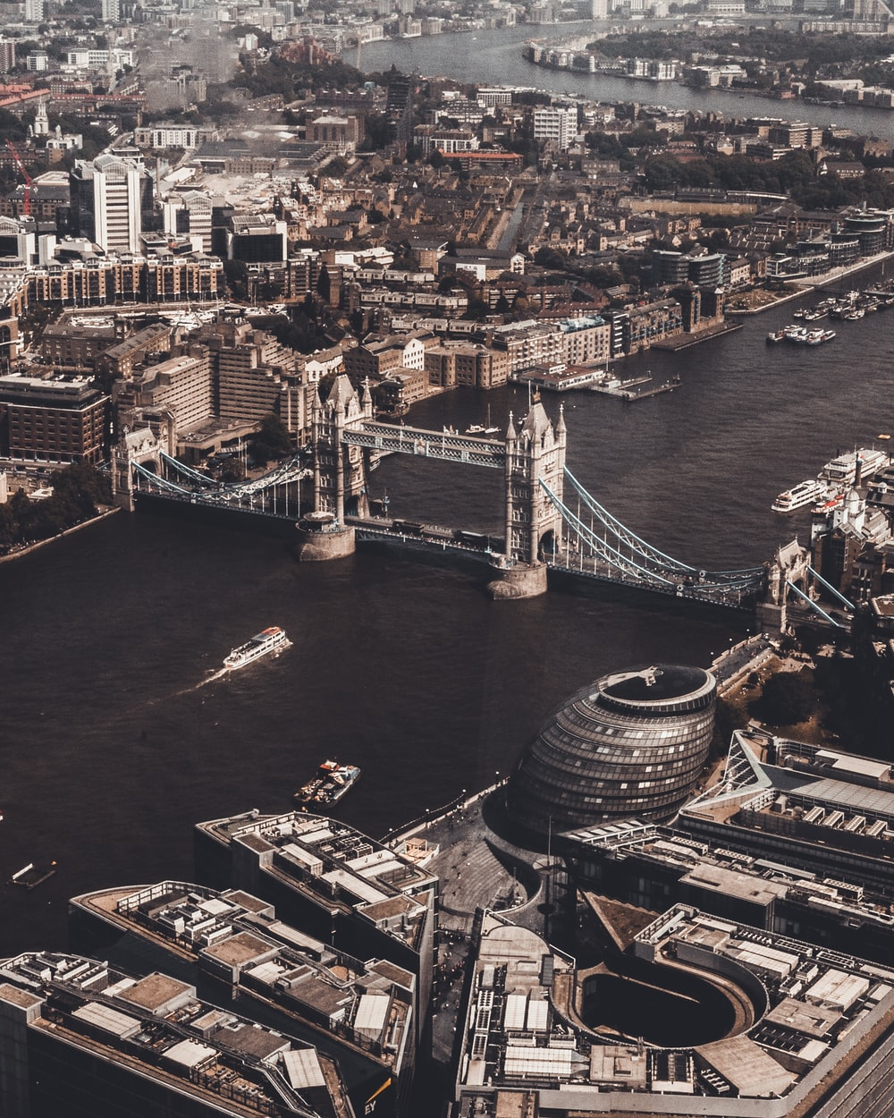 aerial photography of London Bridge