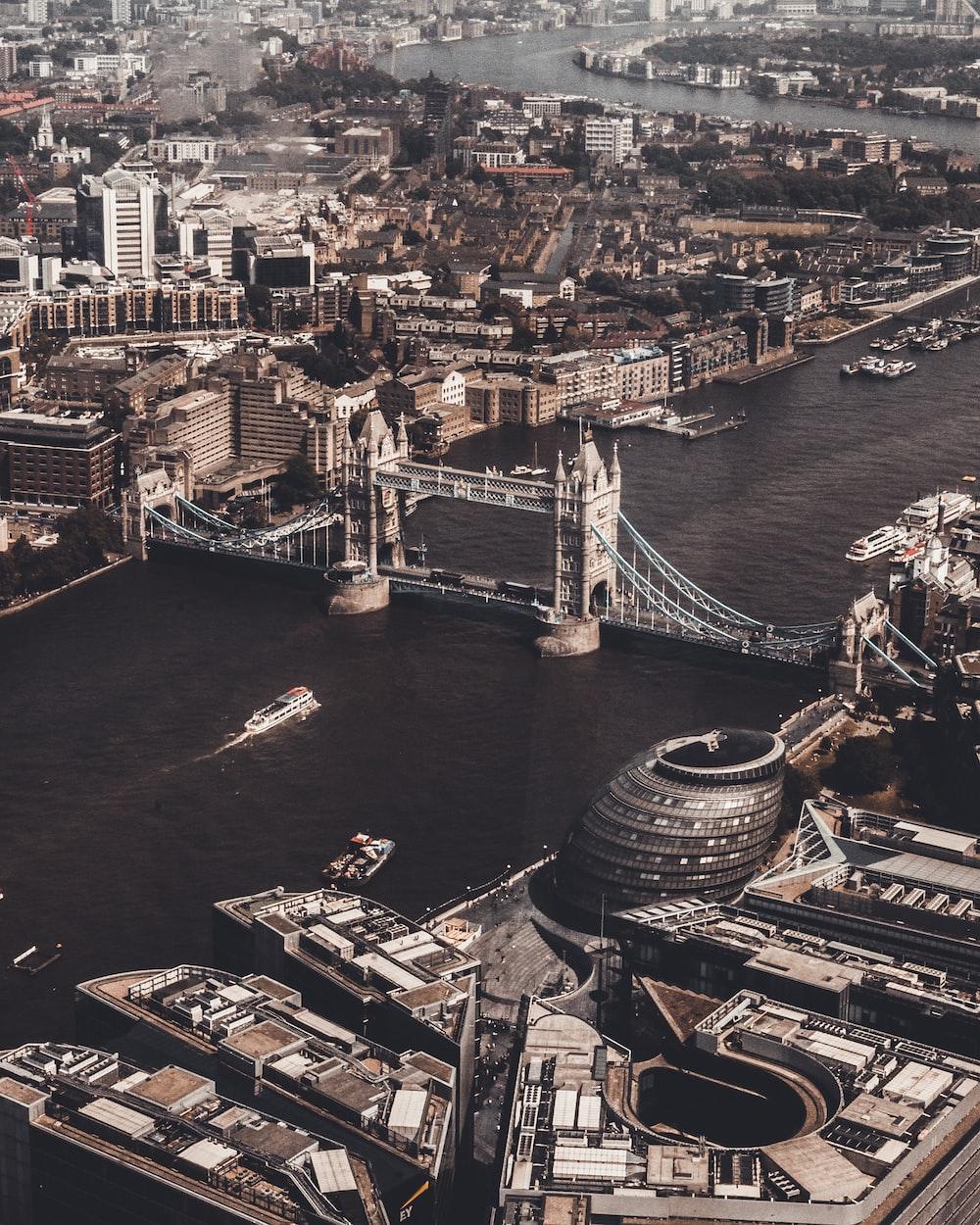 aerial photography of London Bridge