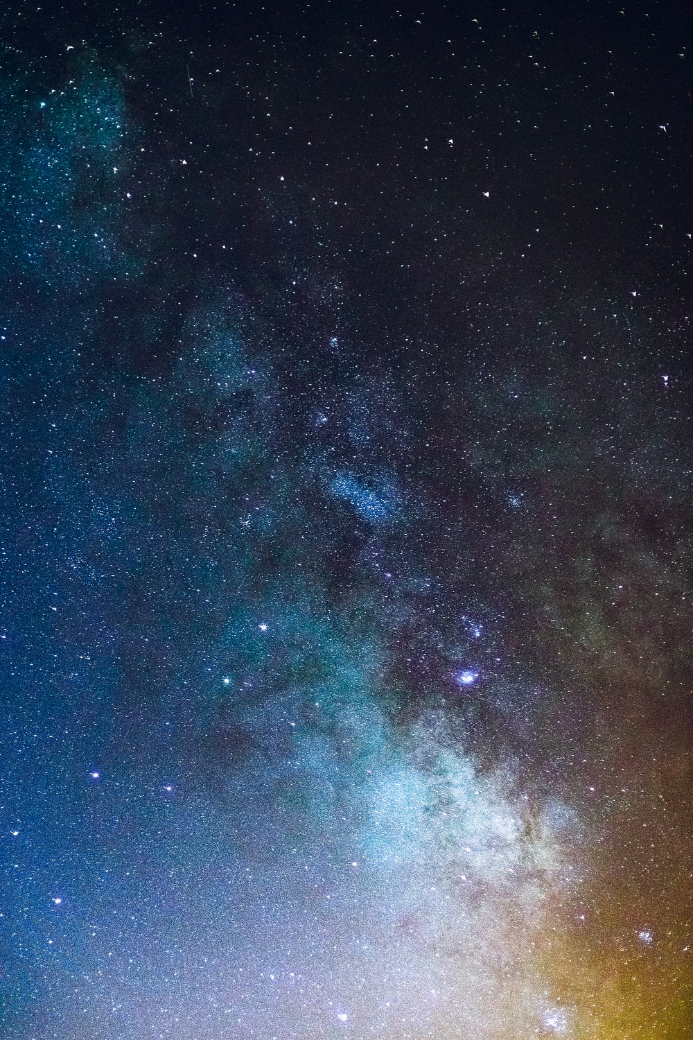 milky way during night time