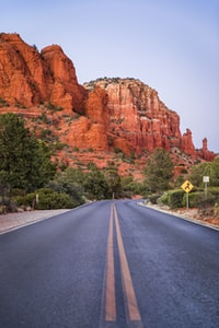 road leading to red mountain