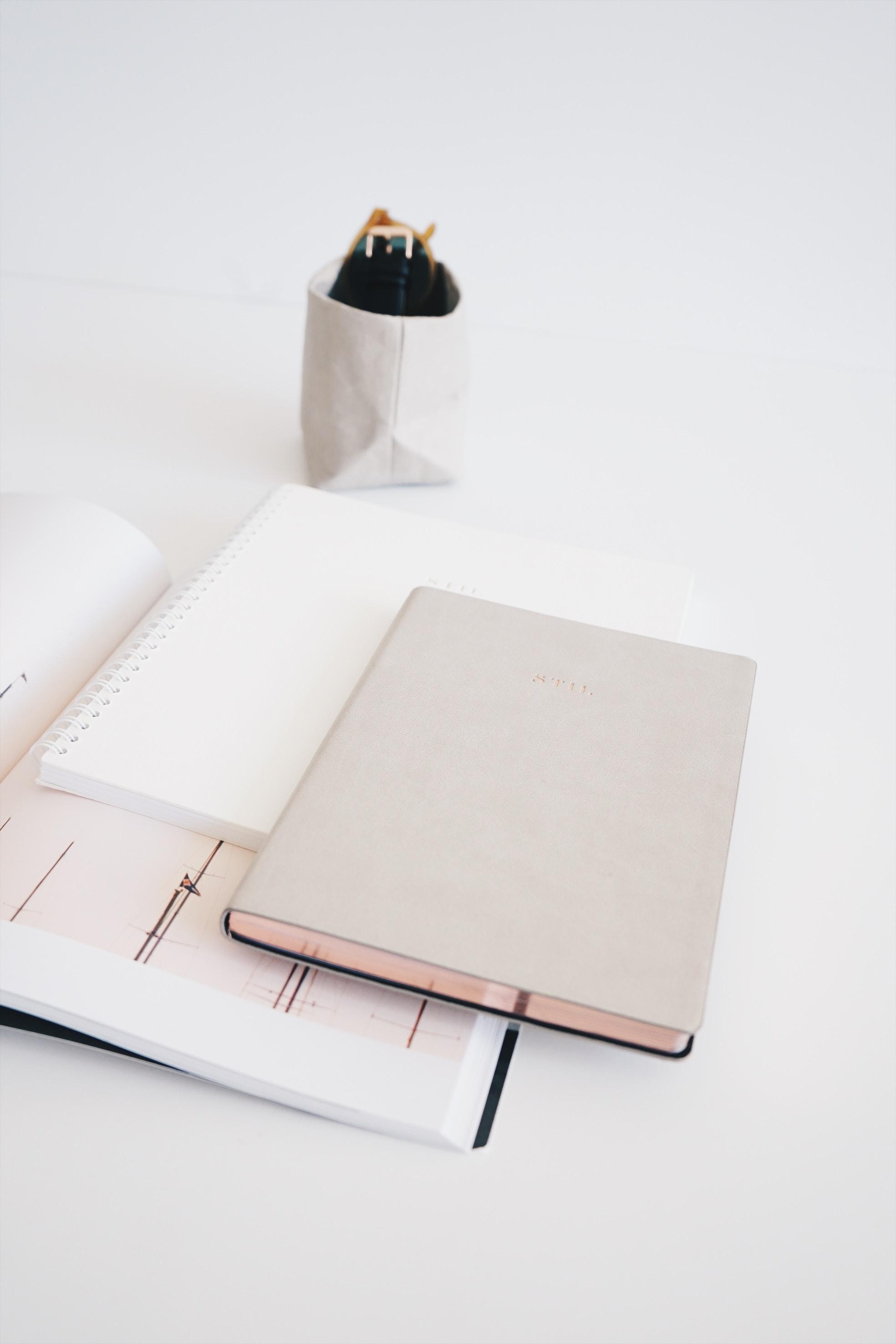 Anteckningsböcker och pennställ