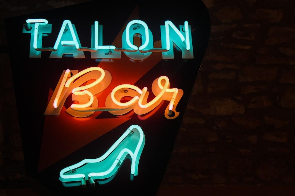 Talon bar neon signage