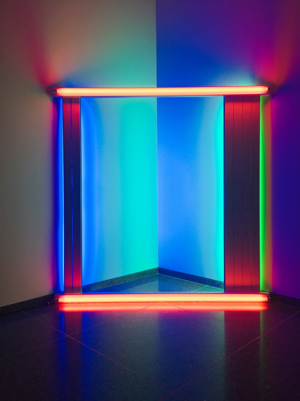 orange, red, green and blue LED light