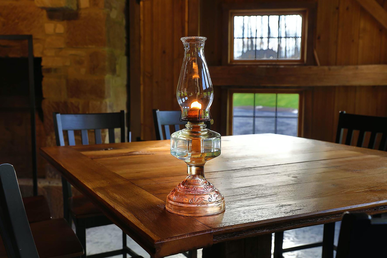 glass kerosene lantern