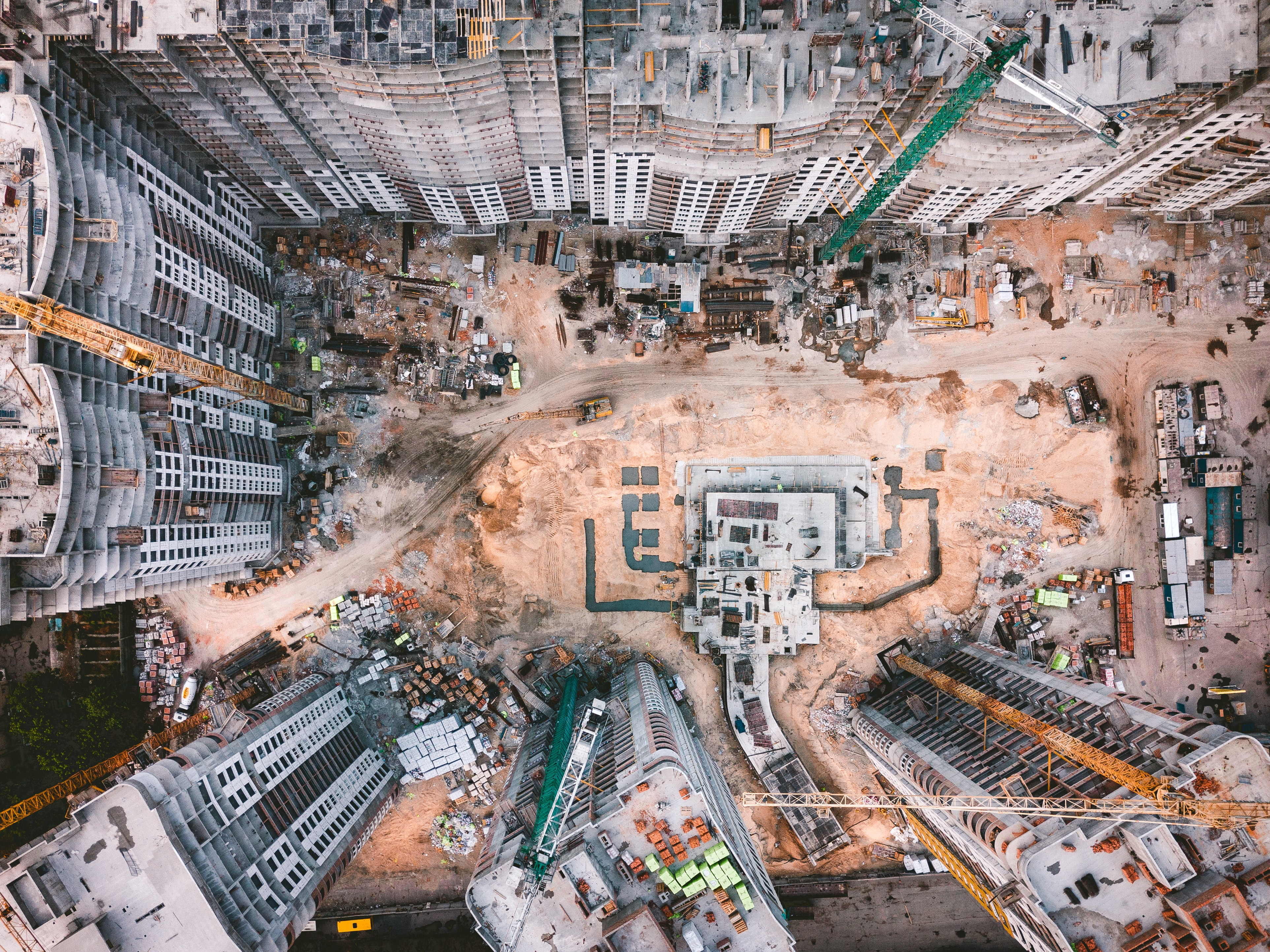 aerial photography of white high-rise concrete building