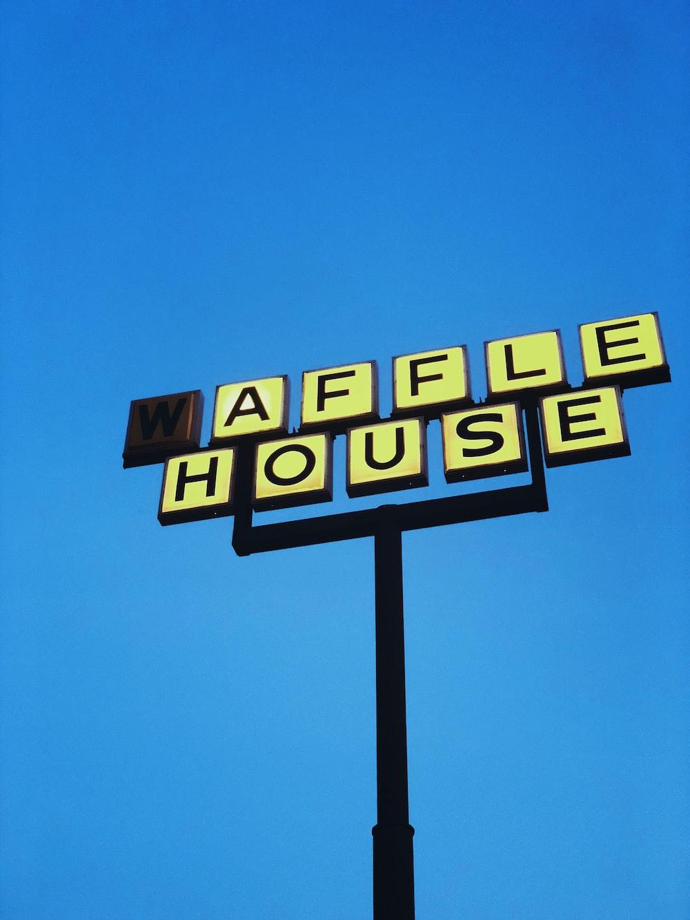 Waffle House road signage