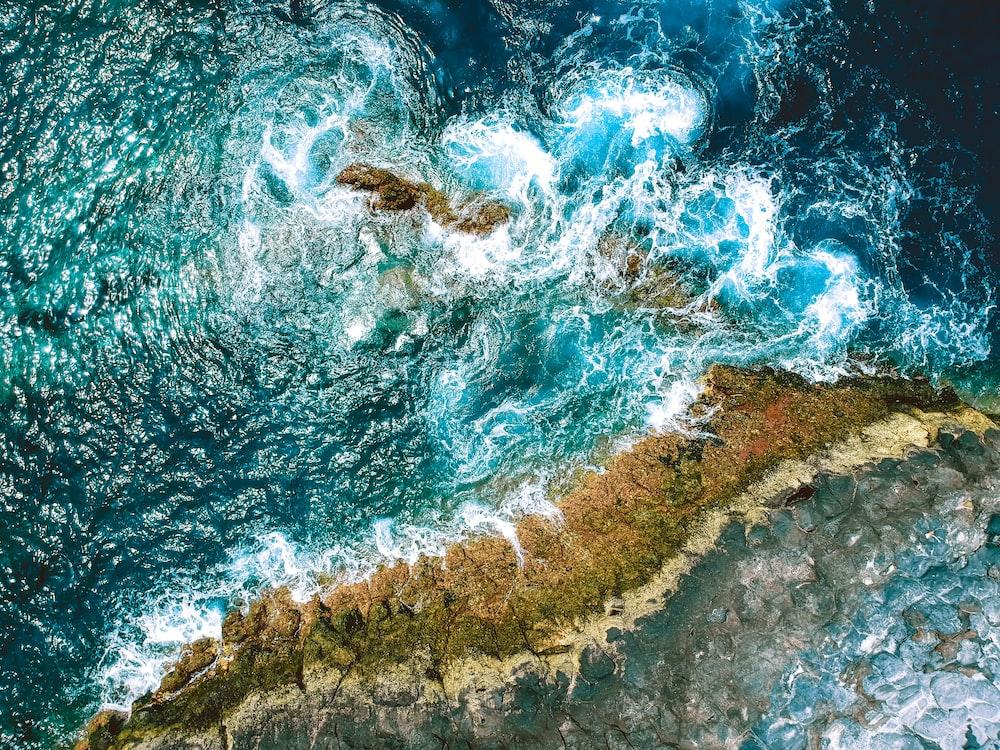 bird's eyeview photo of ocean