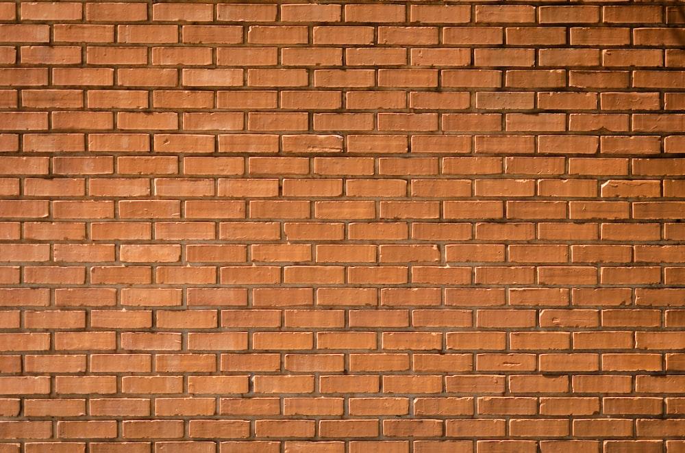 closeup photography of brown brick wall