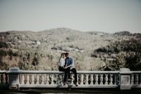 Engagement session in the mountains of western NC