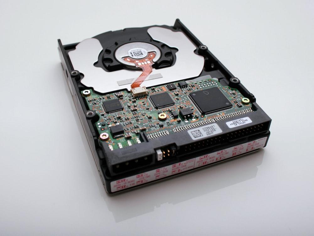 black and gray internal HDD