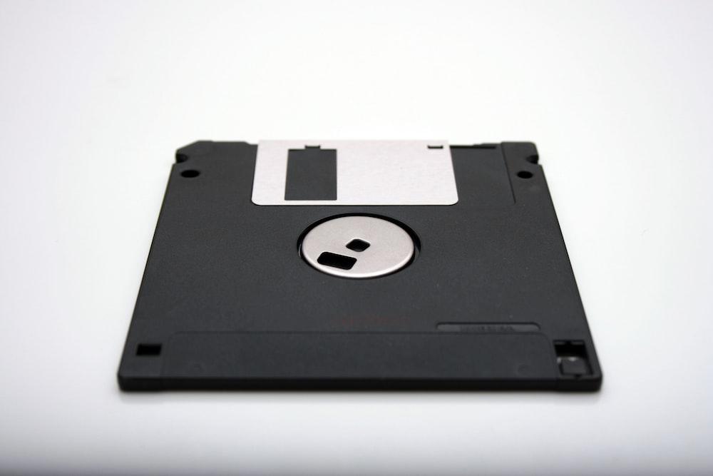 black floppy diskette