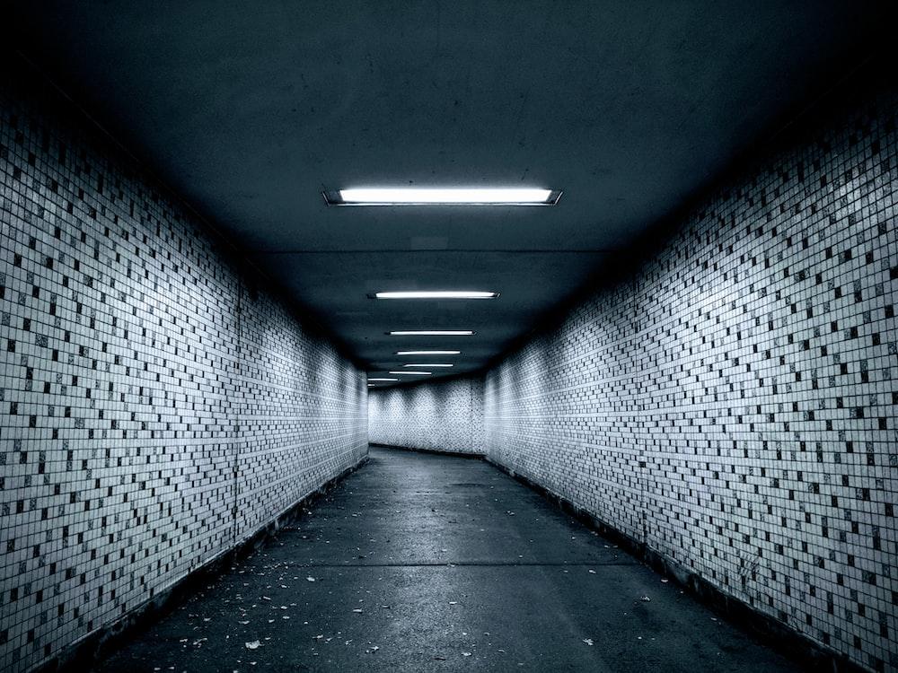 black and gray hallway