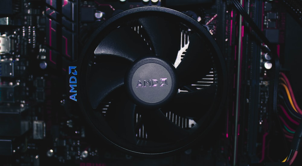 black AMDA graphics card