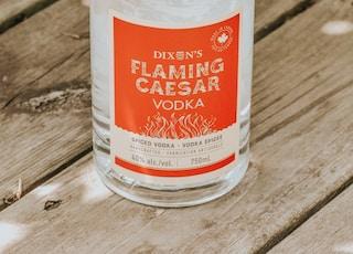 Dixens Flaming Caesar Vodka bottle