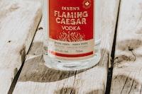 750ml Dixon's flaming caesar vodka bottle