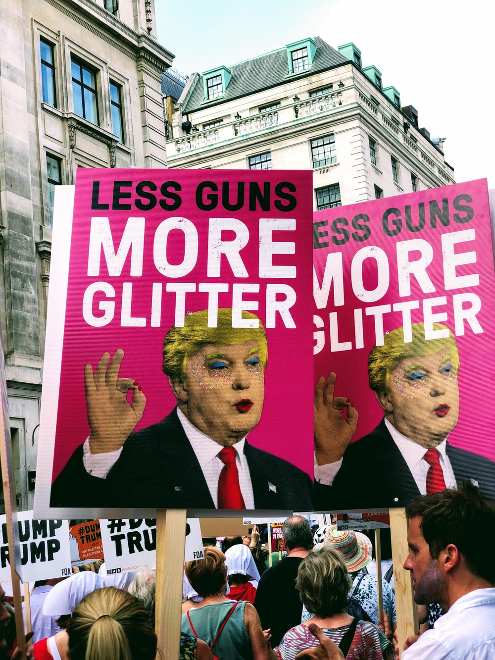 Less Guns More Glitter poster
